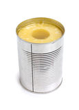 Pineapple ring in tin Royalty Free Stock Photos