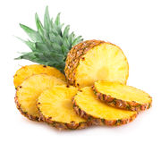 Pineapple. Ripe pineapple on white background Royalty Free Stock Photo