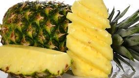 Pineapple stock video footage