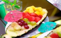 Pineapple salad stock photo
