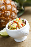 Pineapple salsa Royalty Free Stock Photography