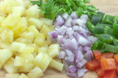 Pineapple salsa sauce Stock Image