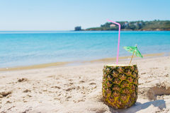 Pineapple on the sand Royalty Free Stock Photo