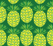 Pineapple seamless pattern Royalty Free Stock Photo