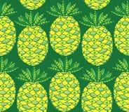 Pineapple seamless pattern Royalty Free Stock Photo