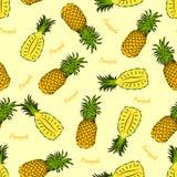 Pineapple seamless Stock Photos
