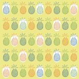 Pineapple seamless pattern Royalty Free Stock Image