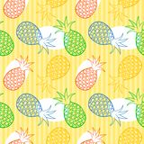 Pineapple seamless pattern Royalty Free Stock Photos
