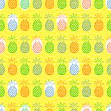 Pineapple seamless pattern Stock Photo