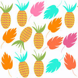 Pineapple   seamless pattern. It is located in swatch menu, vect Royalty Free Stock Image