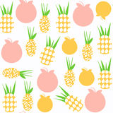 Pineapple   seamless pattern. It is located in swatch menu, vect Stock Photo