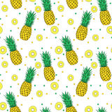Pineapple seamless pattern stock photography