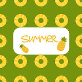 Pineapple seamless pattern Royalty Free Stock Photography