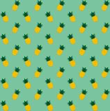 Pineapple seamless pattern.  Vintage pineapple seamless for your business. Stock Photos