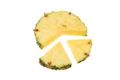 Pineapple segments Royalty Free Stock Photos