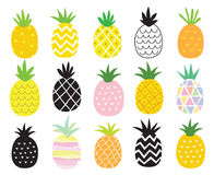 Pineapple Set Royalty Free Stock Images