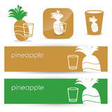 Pineapple signs and banners Stock Photo