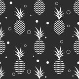 Pineapple simple vetor seamless background. Textile pattern. Royalty Free Stock Photo