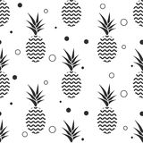 Pineapple simple vetor seamless background. Textile pattern. Royalty Free Stock Images
