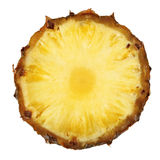 Pineapple slice isolated close up Royalty Free Stock Photo