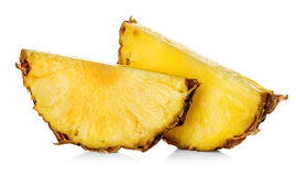 Pineapple slice isolated on white Stock Image
