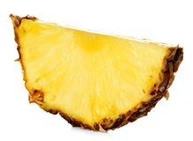 Pineapple slice isolated on white Royalty Free Stock Photo