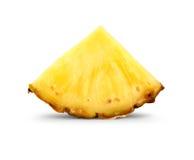 Pineapple slice on white Stock Photos