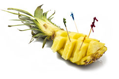 Pineapple sliced Stock Images