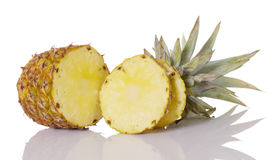 Pineapple Sliced Open Stock Photos