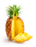 Pineapple with slices Royalty Free Stock Photos