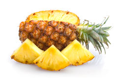 Pineapple with slices Royalty Free Stock Image