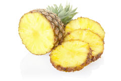 Pineapple and slices Stock Photos