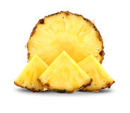 Pineapple with slices stock photo
