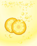 Pineapple slices. Carbonated drink royalty free stock photos