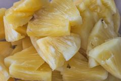 Pineapple slices Stock Image