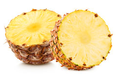 Pineapple with slices Stock Photos