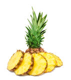 Pineapple slices isolated Royalty Free Stock Images