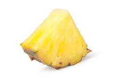 Pineapple slices. Isolated on white background Stock Image