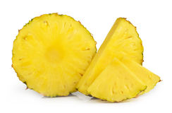Pineapple slices isolated Royalty Free Stock Photo
