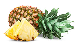 Pineapple. Slices isolated on white background
