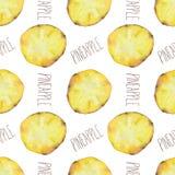 Pineapple slices pattern vector illustration