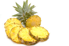 Pineapple with slices Stock Images