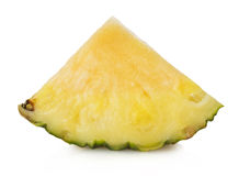 Pineapple slices on the white background Stock Photo