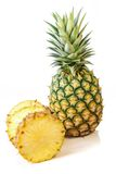 Pineapple with slices on white background, Fruit. Stock Photography