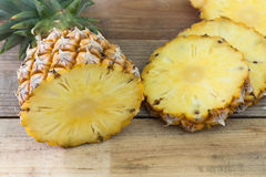 Pineapple slices Stock Images