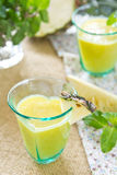 Pineapple smoothie. Fresh pineapple smoothie by fresh fruits Stock Image
