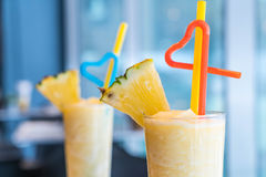 Pineapple smoothie Royalty Free Stock Photos