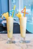 Pineapple smoothie Stock Photos