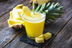 Pineapple smoothie Stock Photo
