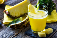 Pineapple smoothie. With fresh pineapple Royalty Free Stock Photo
